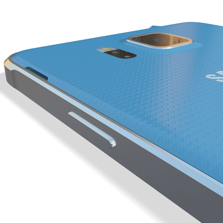 Samsung Galaxy Alpha Blue royalty-free 3d model - Preview no. 16