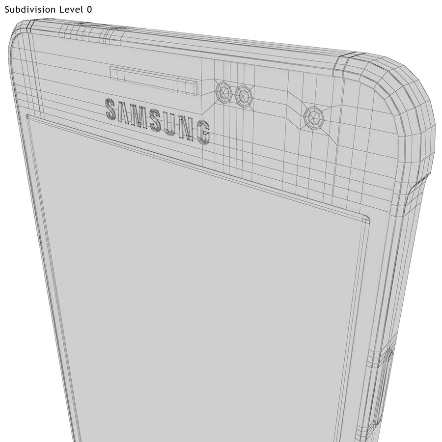 Samsung Galaxy Alpha Blue royalty-free 3d model - Preview no. 29