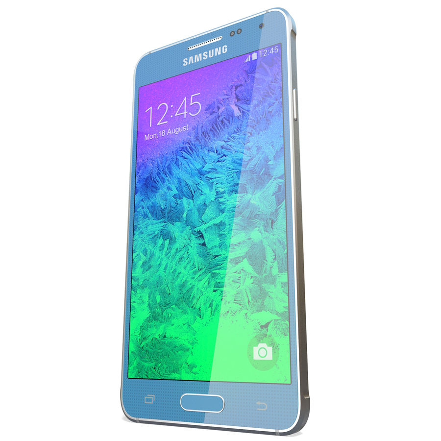 Samsung Galaxy Alpha Blue royalty-free 3d model - Preview no. 7
