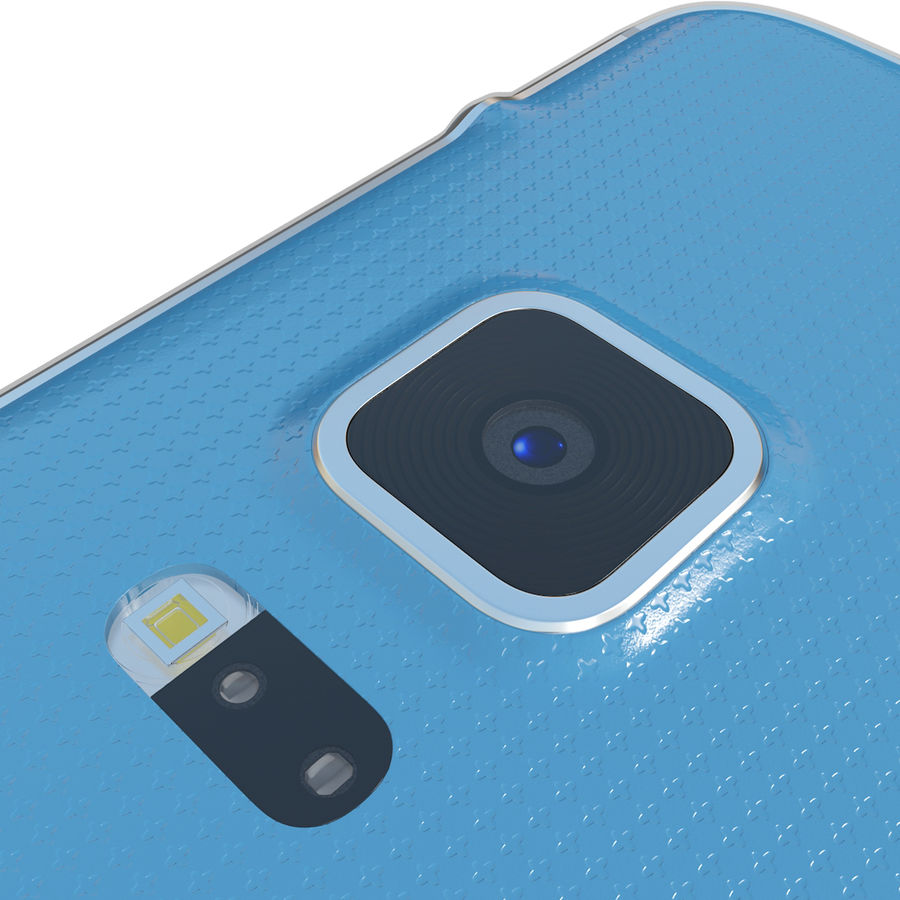 Samsung Galaxy Alpha Blue royalty-free 3d model - Preview no. 18