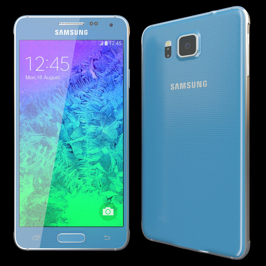 Samsung Galaxy Alpha Blue royalty-free 3d model - Preview no. 2