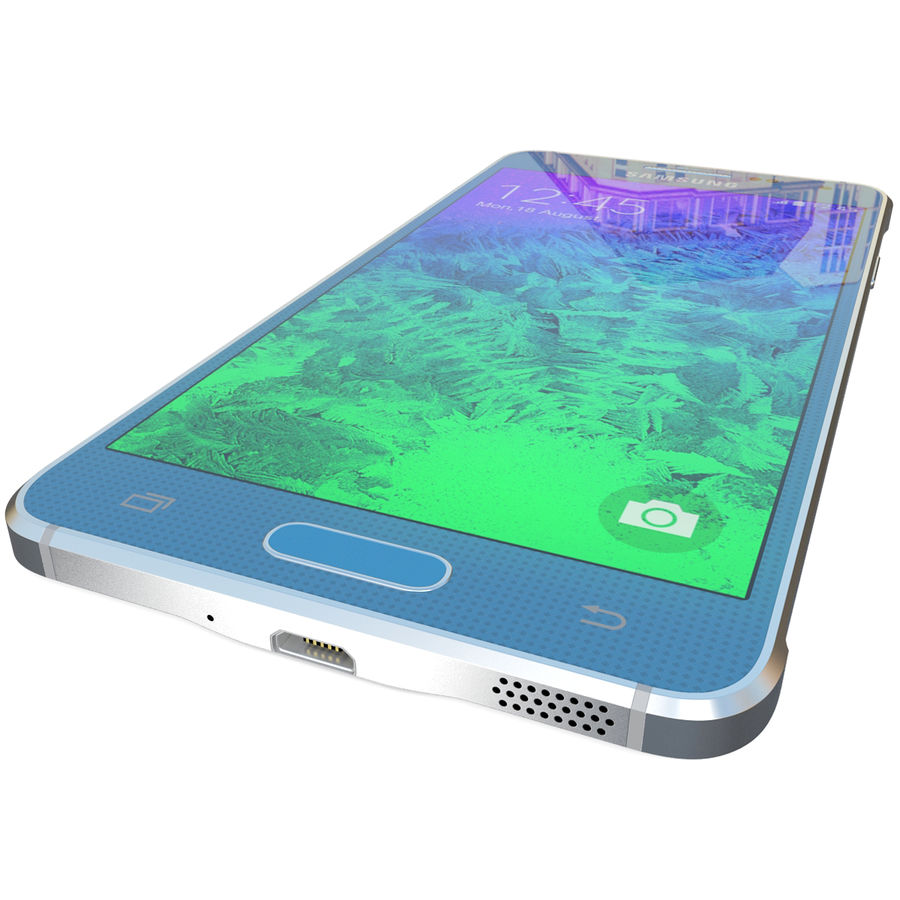 Samsung Galaxy Alpha Blue royalty-free 3d model - Preview no. 13