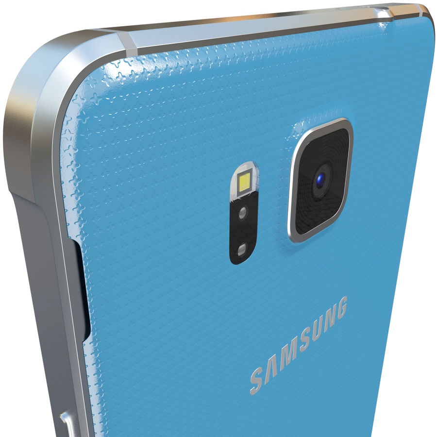 Samsung Galaxy Alpha Blue royalty-free 3d model - Preview no. 8