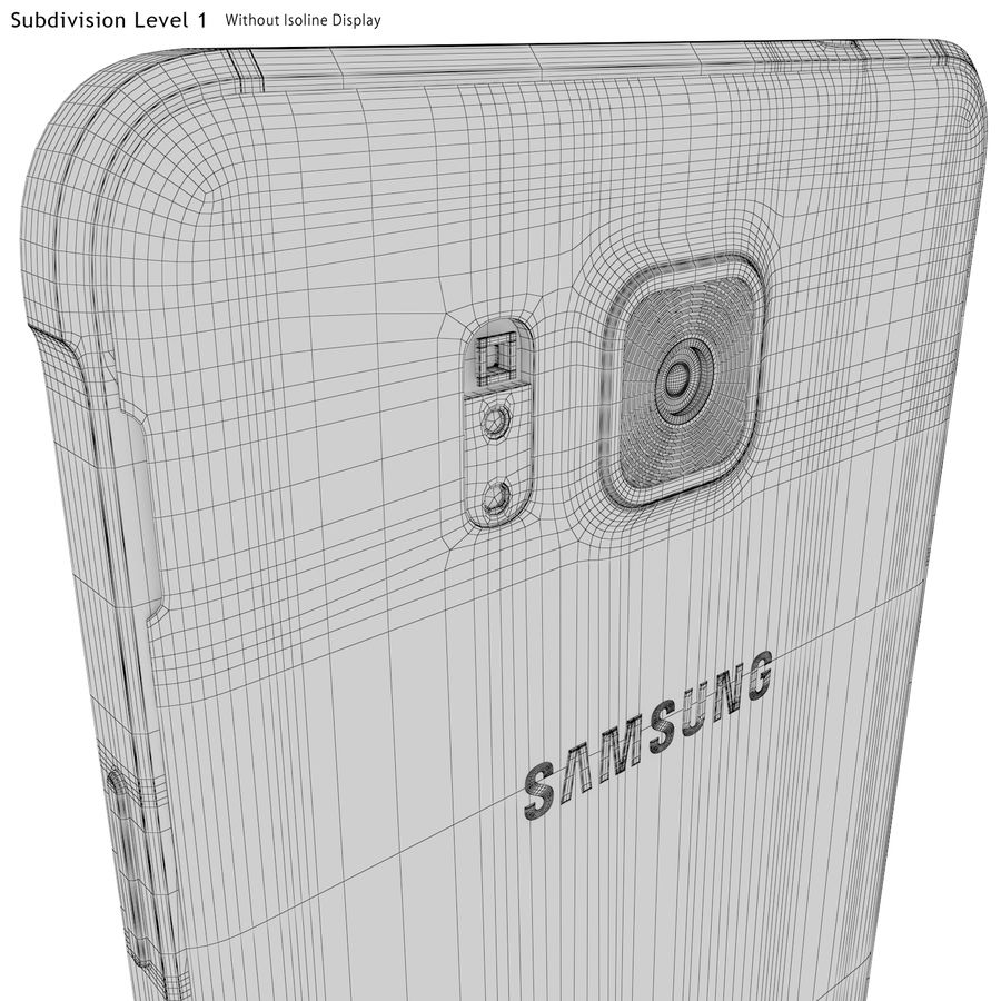 Samsung Galaxy Alpha Blue royalty-free 3d model - Preview no. 26