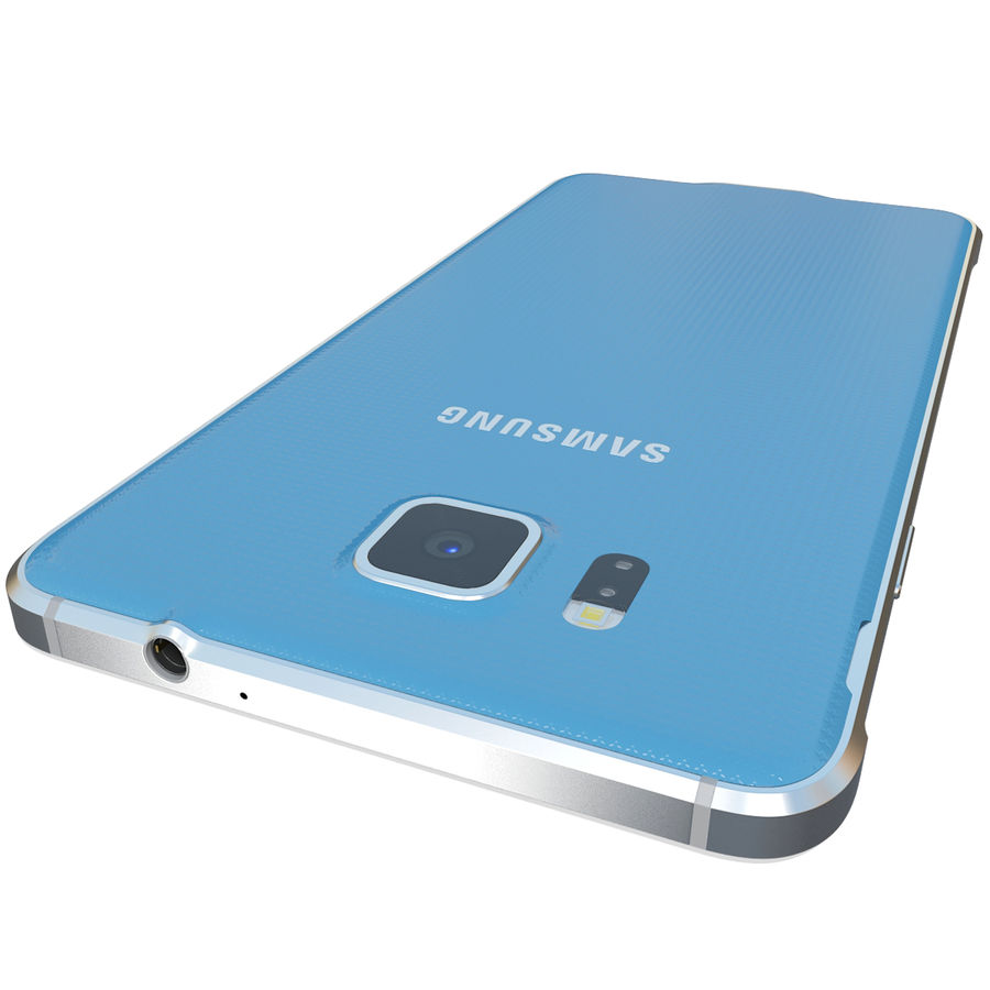 Samsung Galaxy Alpha Blue royalty-free 3d model - Preview no. 11