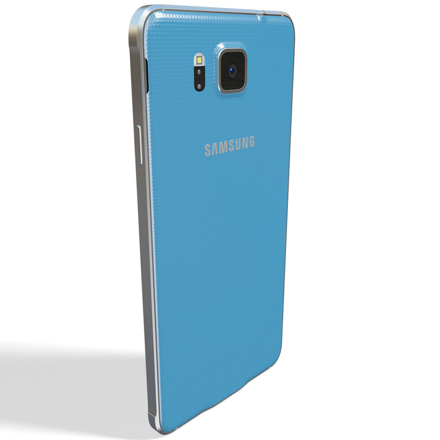 Samsung Galaxy Alpha Blue royalty-free 3d model - Preview no. 6