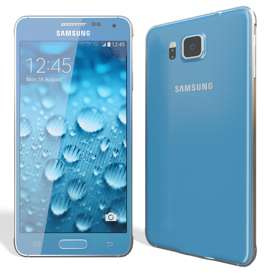 Samsung Galaxy Alpha Blue royalty-free 3d model - Preview no. 5