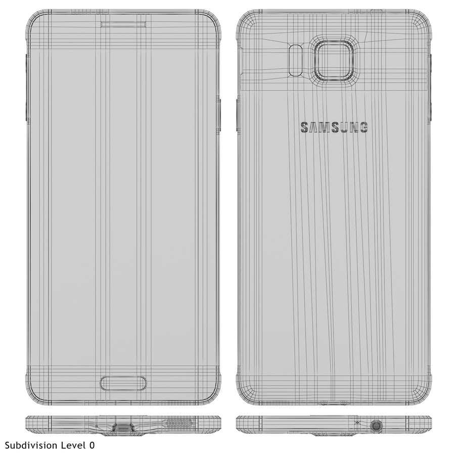 Samsung Galaxy Alpha Blue royalty-free 3d model - Preview no. 21