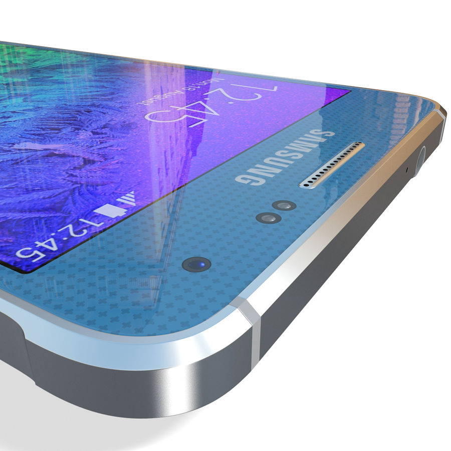 Samsung Galaxy Alpha Blue royalty-free 3d model - Preview no. 19