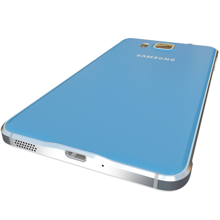 Samsung Galaxy Alpha Blue royalty-free 3d model - Preview no. 12