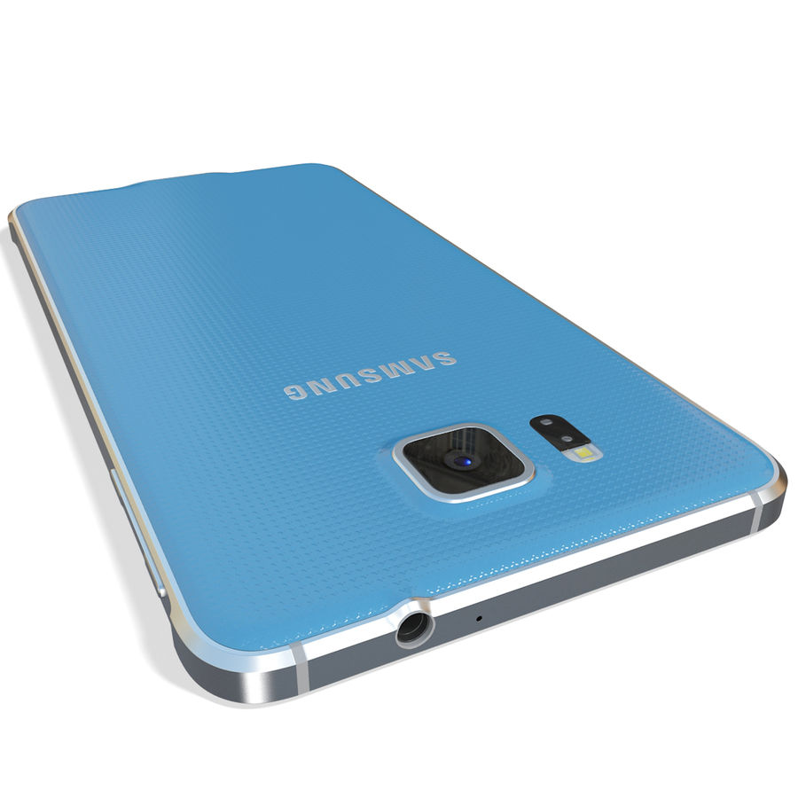 Samsung Galaxy Alpha Blue royalty-free 3d model - Preview no. 10