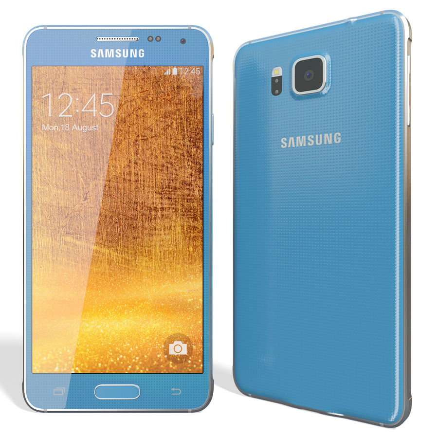 Samsung Galaxy Alpha Blue royalty-free 3d model - Preview no. 4