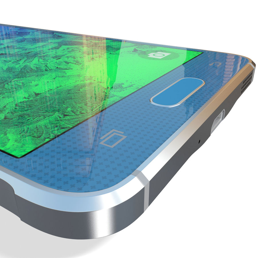 Samsung Galaxy Alpha Blue royalty-free 3d model - Preview no. 20