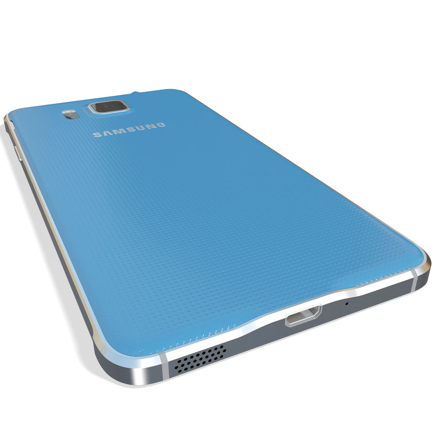 Samsung Galaxy Alpha Blue royalty-free 3d model - Preview no. 9