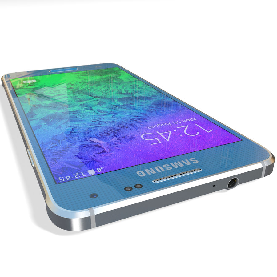 Samsung Galaxy Alpha Blue royalty-free 3d model - Preview no. 15