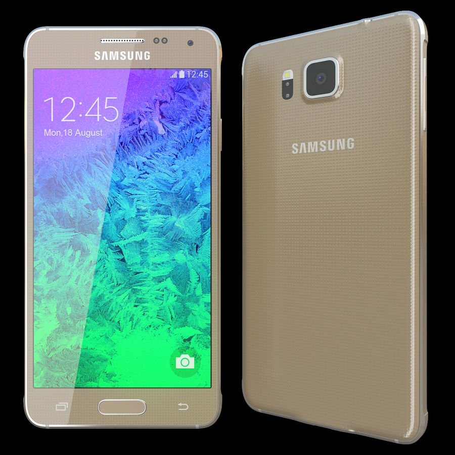 Samsung Galaxy Alpha Gold royalty-free 3d model - Preview no. 2
