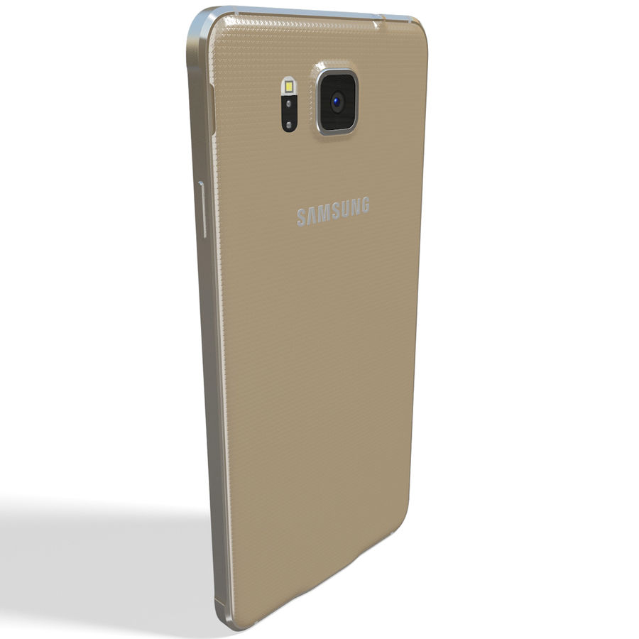 Samsung Galaxy Alpha Gold royalty-free 3d model - Preview no. 6