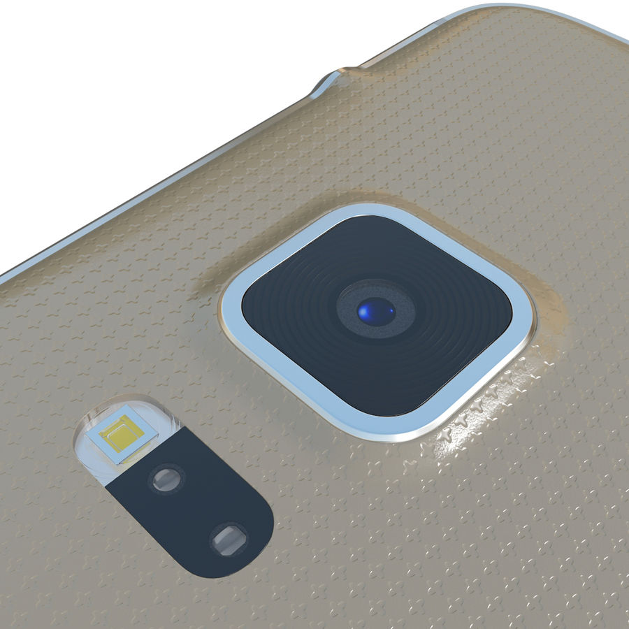 Samsung Galaxy Alpha Gold royalty-free 3d model - Preview no. 18
