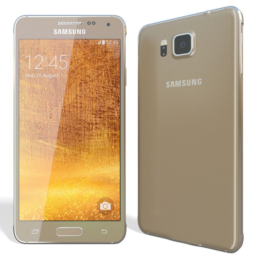 Samsung Galaxy Alpha Gold royalty-free 3d model - Preview no. 4