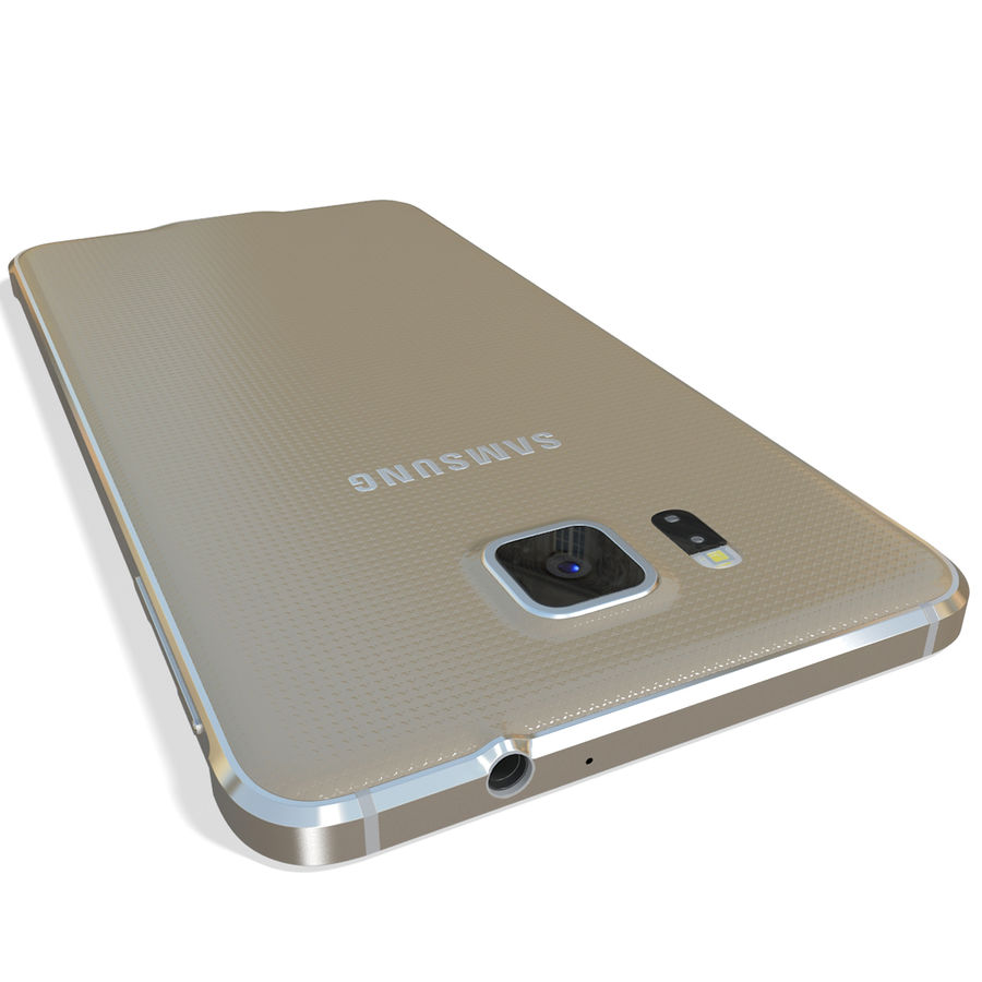 Samsung Galaxy Alpha Gold royalty-free 3d model - Preview no. 10