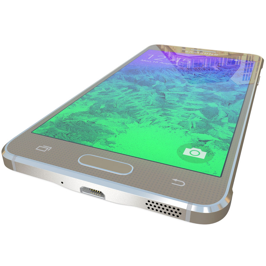 Samsung Galaxy Alpha Gold royalty-free 3d model - Preview no. 13