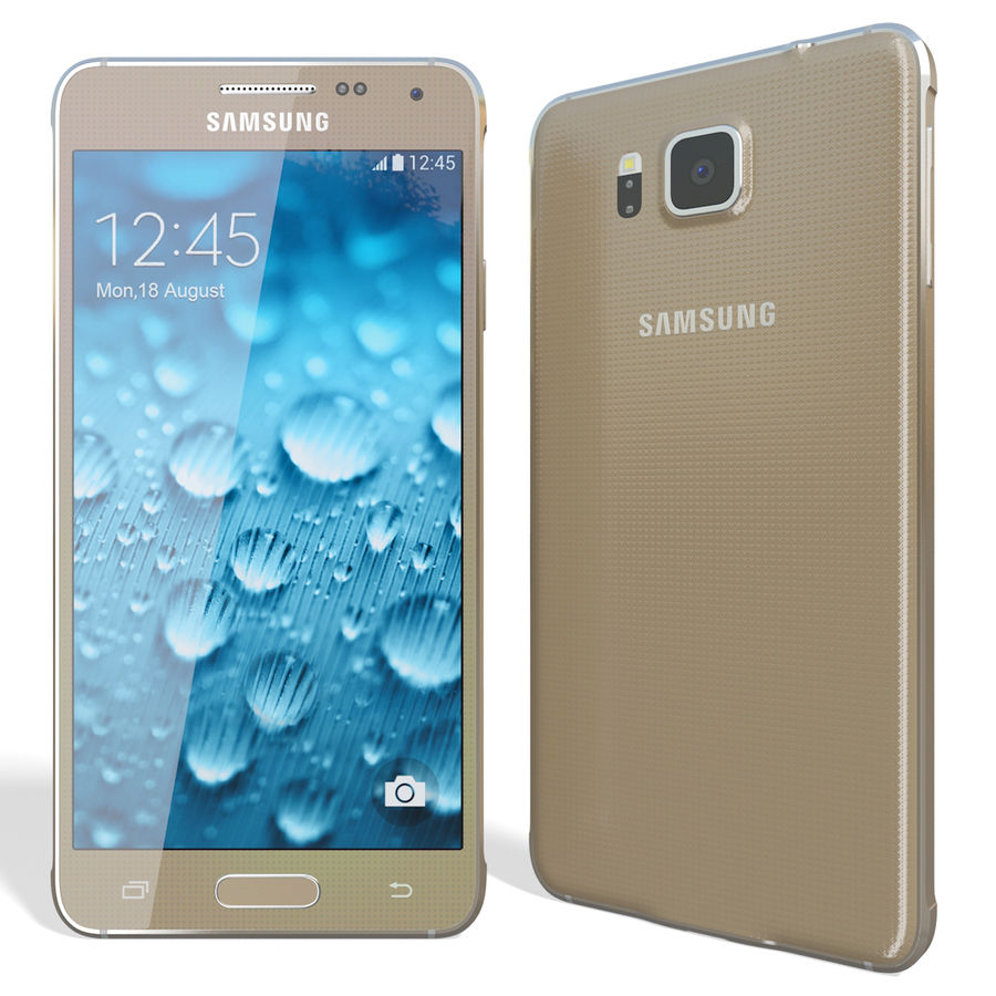 Samsung Galaxy Alpha Gold royalty-free 3d model - Preview no. 5