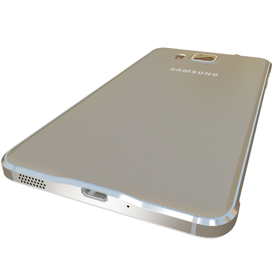 Samsung Galaxy Alpha Gold royalty-free 3d model - Preview no. 12