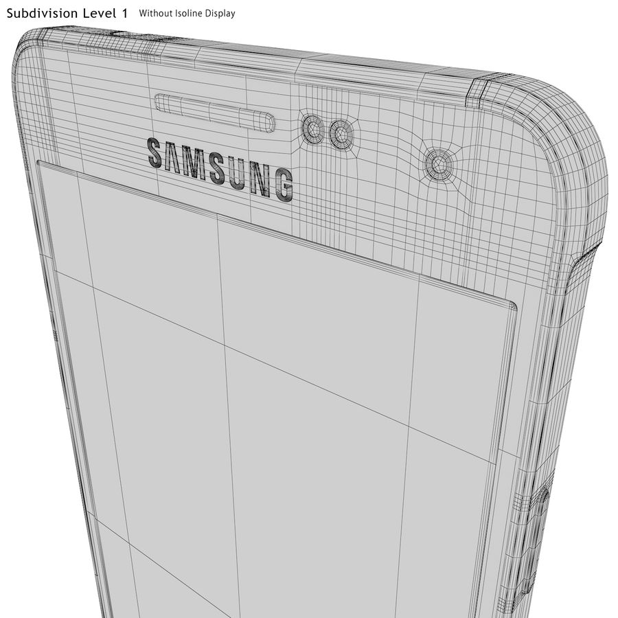 Samsung Galaxy Alpha Gold royalty-free 3d model - Preview no. 30