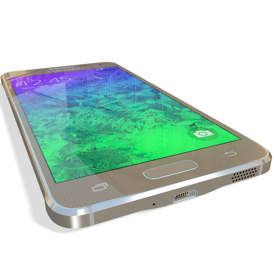 Samsung Galaxy Alpha Gold royalty-free 3d model - Preview no. 14