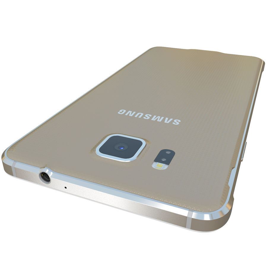 Samsung Galaxy Alpha Gold royalty-free 3d model - Preview no. 11