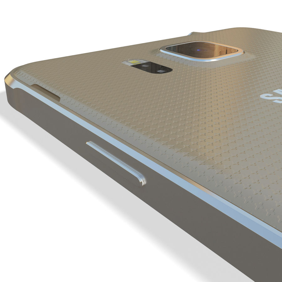 Samsung Galaxy Alpha Gold royalty-free 3d model - Preview no. 16