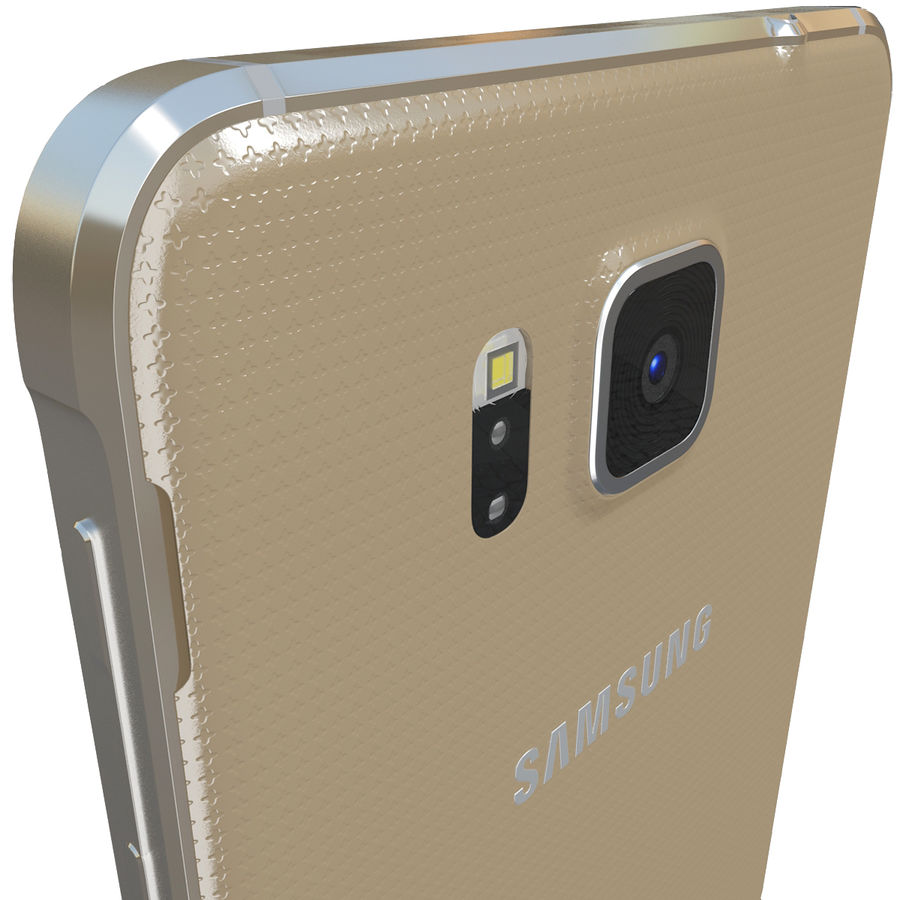 Samsung Galaxy Alpha Gold royalty-free 3d model - Preview no. 8