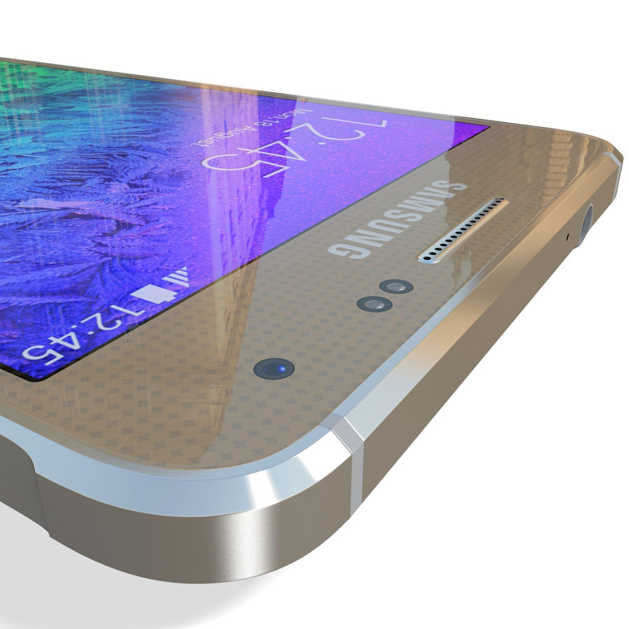 Samsung Galaxy Alpha Gold royalty-free 3d model - Preview no. 19