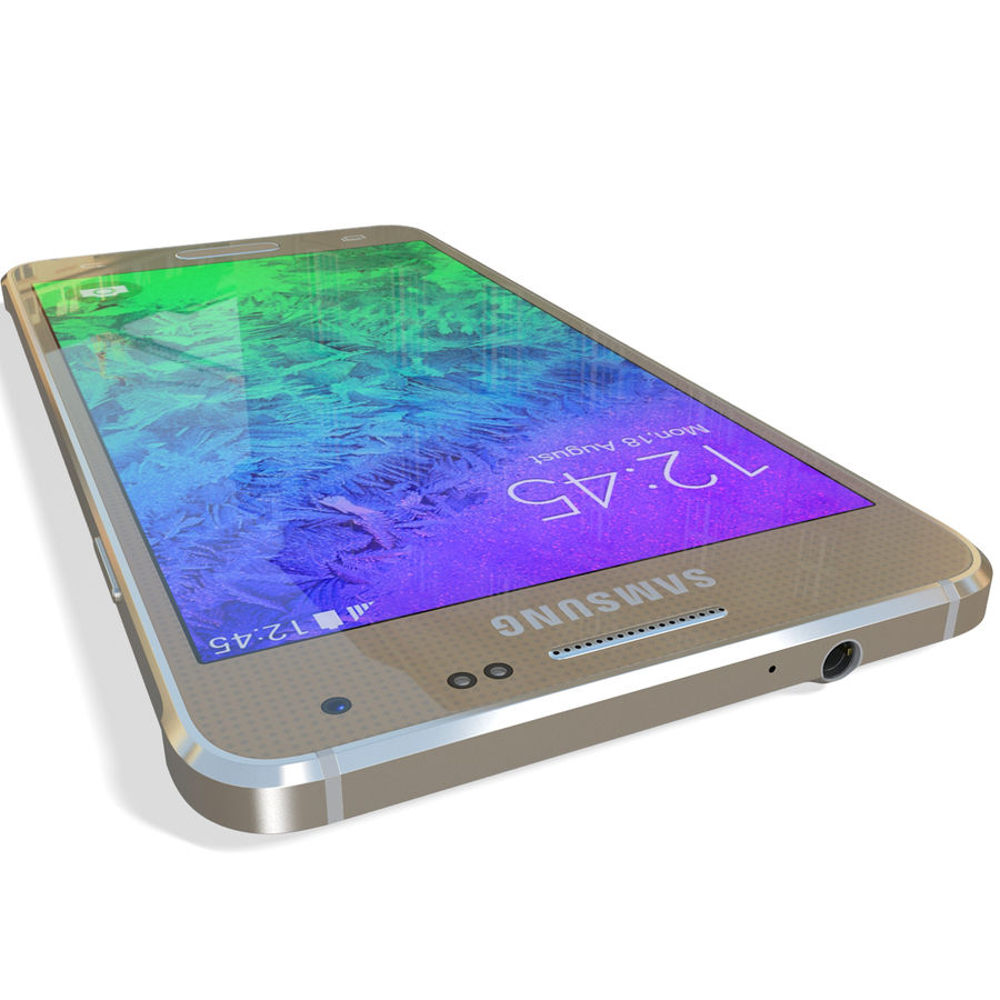 Samsung Galaxy Alpha Gold royalty-free 3d model - Preview no. 15