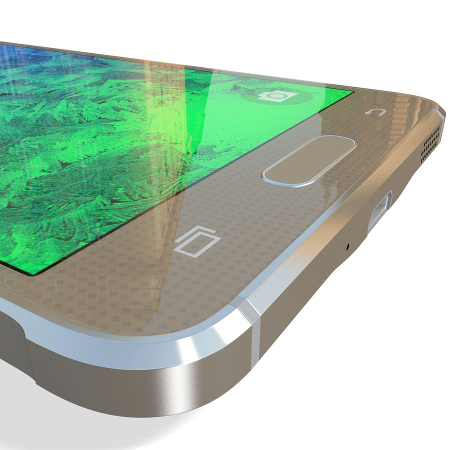 Samsung Galaxy Alpha Gold royalty-free 3d model - Preview no. 20