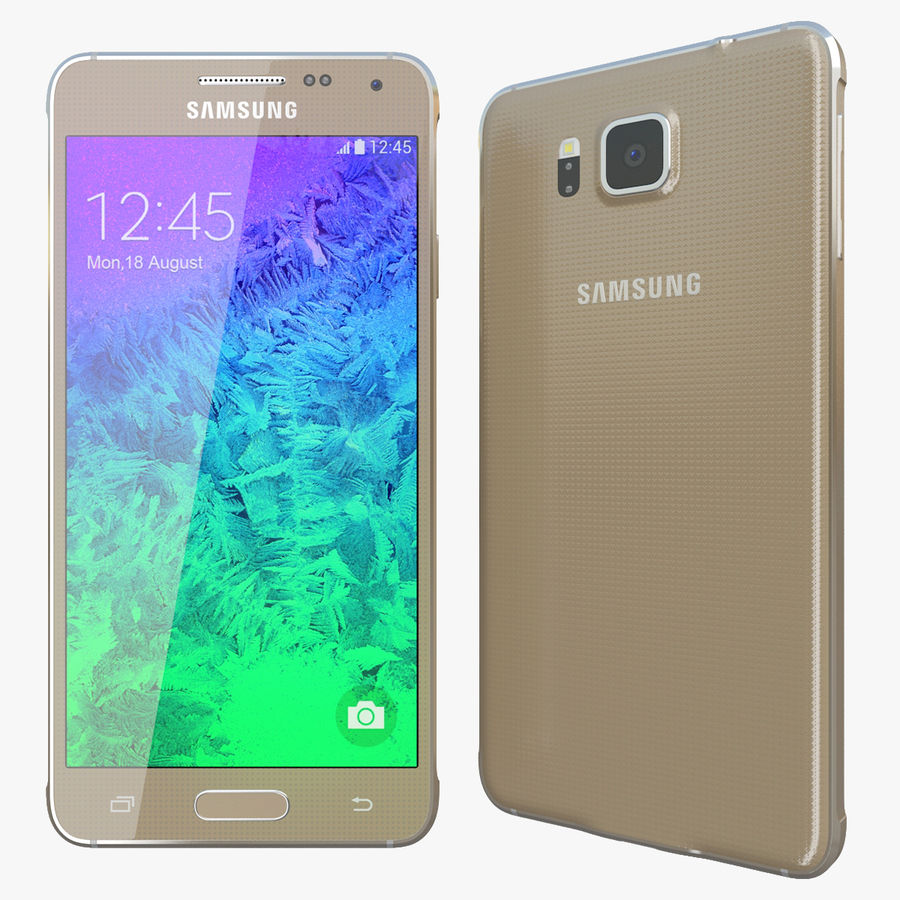 Samsung Galaxy Alpha Gold royalty-free 3d model - Preview no. 1