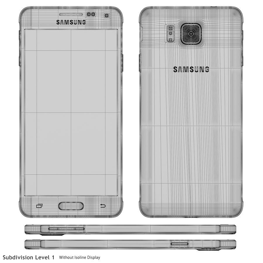 Samsung Galaxy Alpha Silver royalty-free 3d model - Preview no. 24