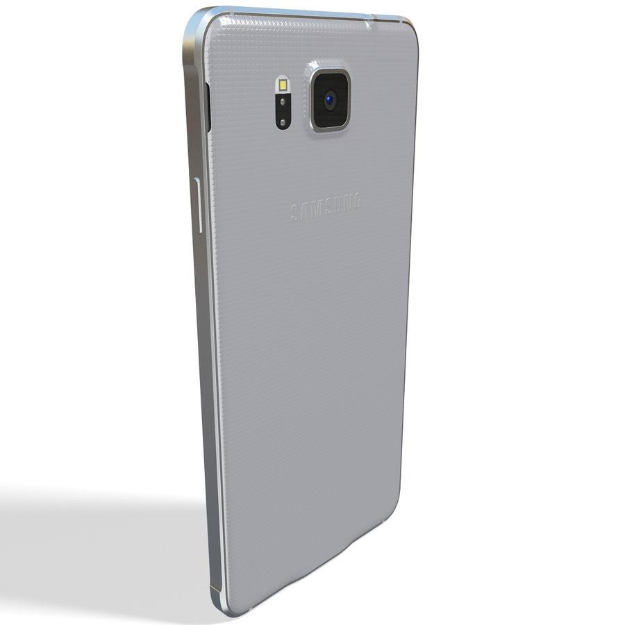 Samsung Galaxy Alpha Silver royalty-free 3d model - Preview no. 6