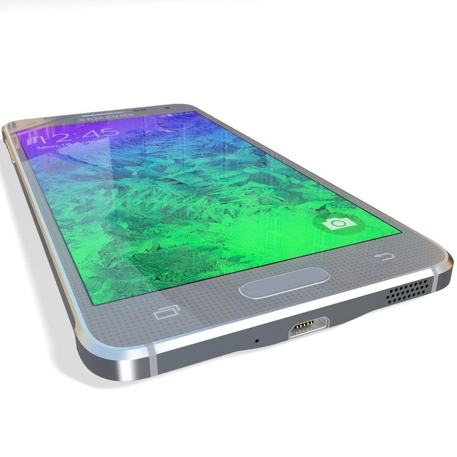 Samsung Galaxy Alpha Silver royalty-free 3d model - Preview no. 14