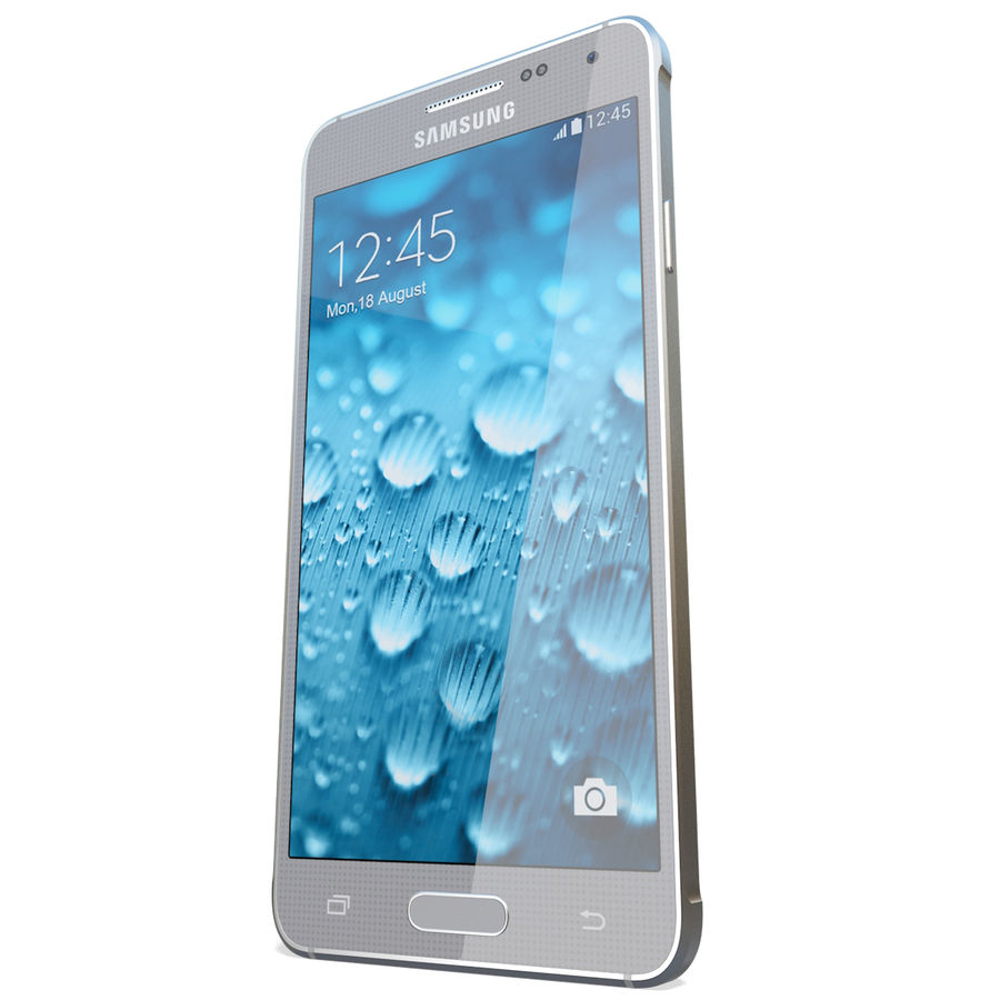 Samsung Galaxy Alpha Silver royalty-free 3d model - Preview no. 7