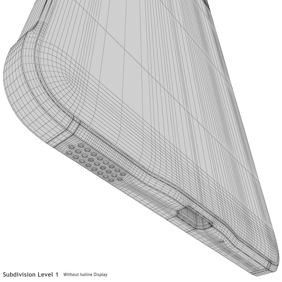 Samsung Galaxy Alpha Silver royalty-free 3d model - Preview no. 28