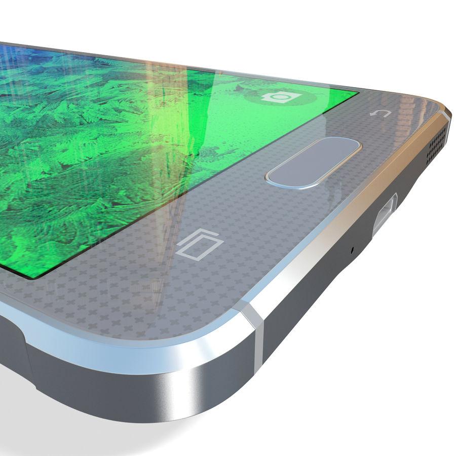 Samsung Galaxy Alpha Silver royalty-free 3d model - Preview no. 20