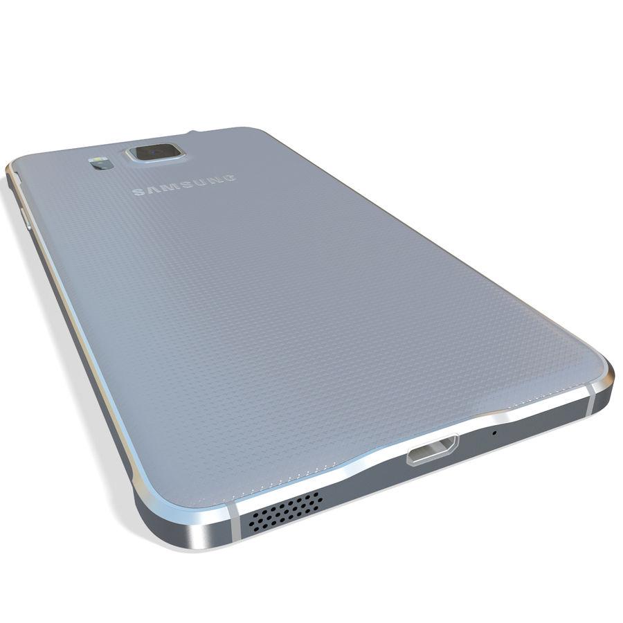 Samsung Galaxy Alpha Silver royalty-free 3d model - Preview no. 9