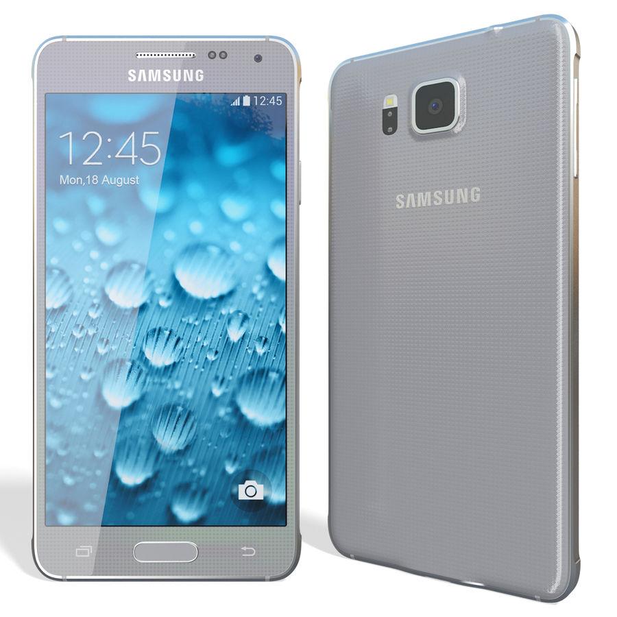 Samsung Galaxy Alpha Silver royalty-free 3d model - Preview no. 5