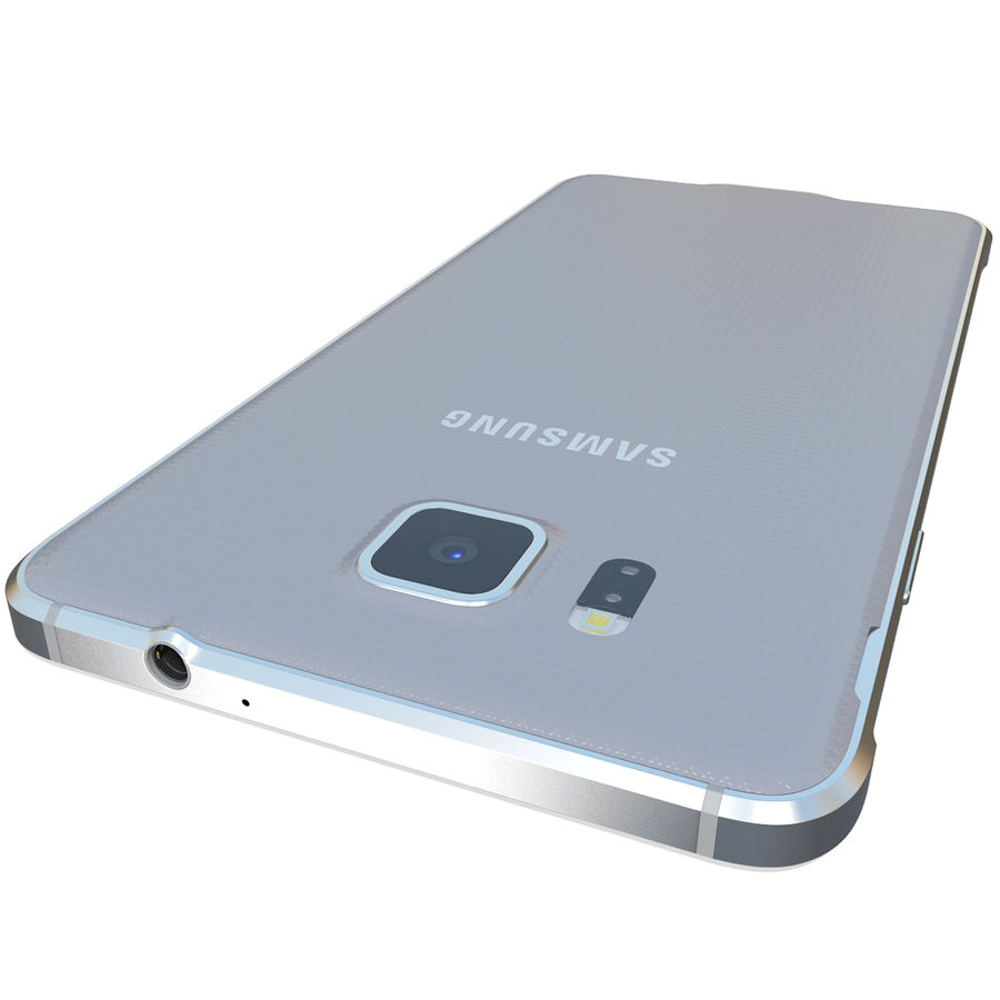 Samsung Galaxy Alpha Silver royalty-free 3d model - Preview no. 11