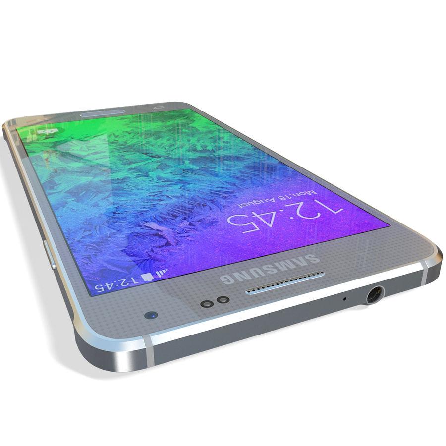 Samsung Galaxy Alpha Silver royalty-free 3d model - Preview no. 15