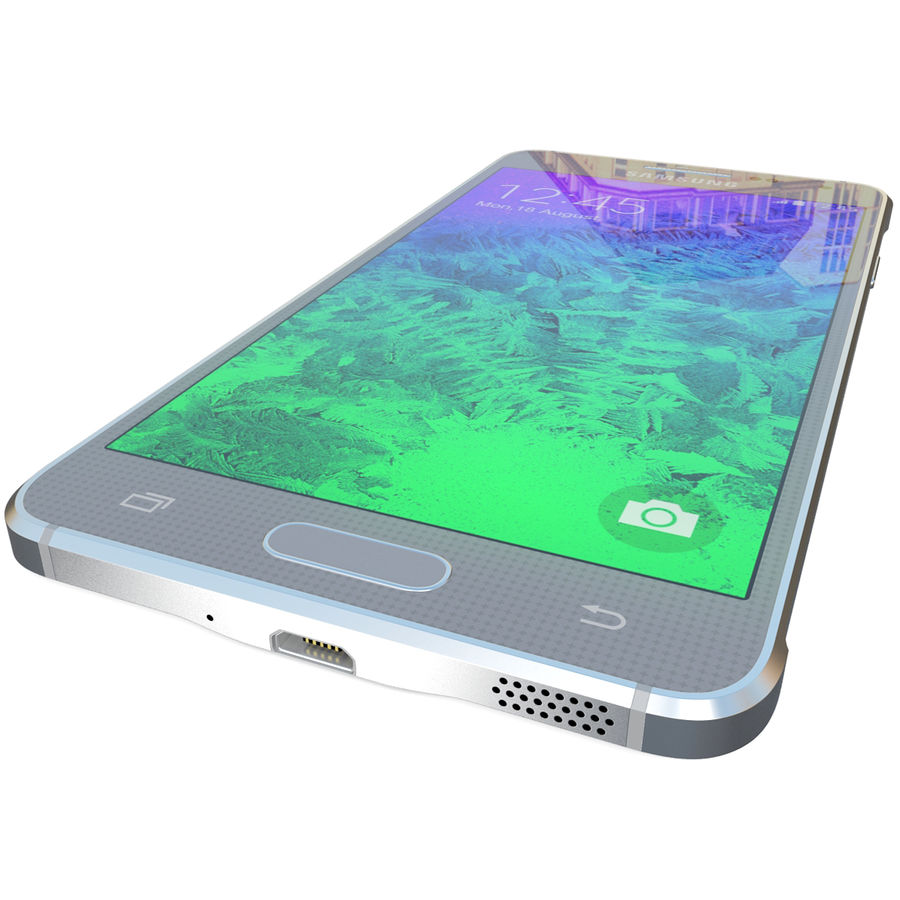 Samsung Galaxy Alpha Silver royalty-free 3d model - Preview no. 13