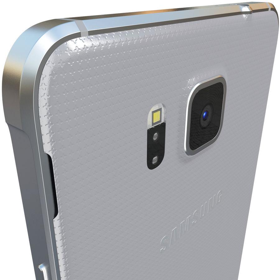 Samsung Galaxy Alpha Silver royalty-free 3d model - Preview no. 8