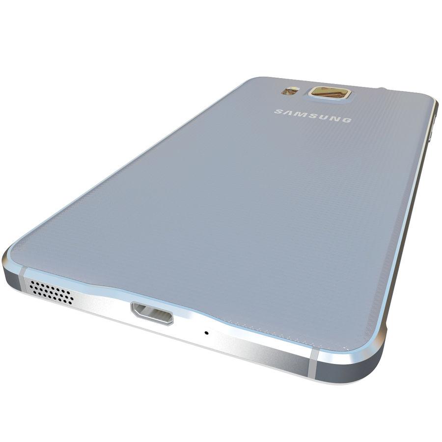 Samsung Galaxy Alpha Silver royalty-free 3d model - Preview no. 12