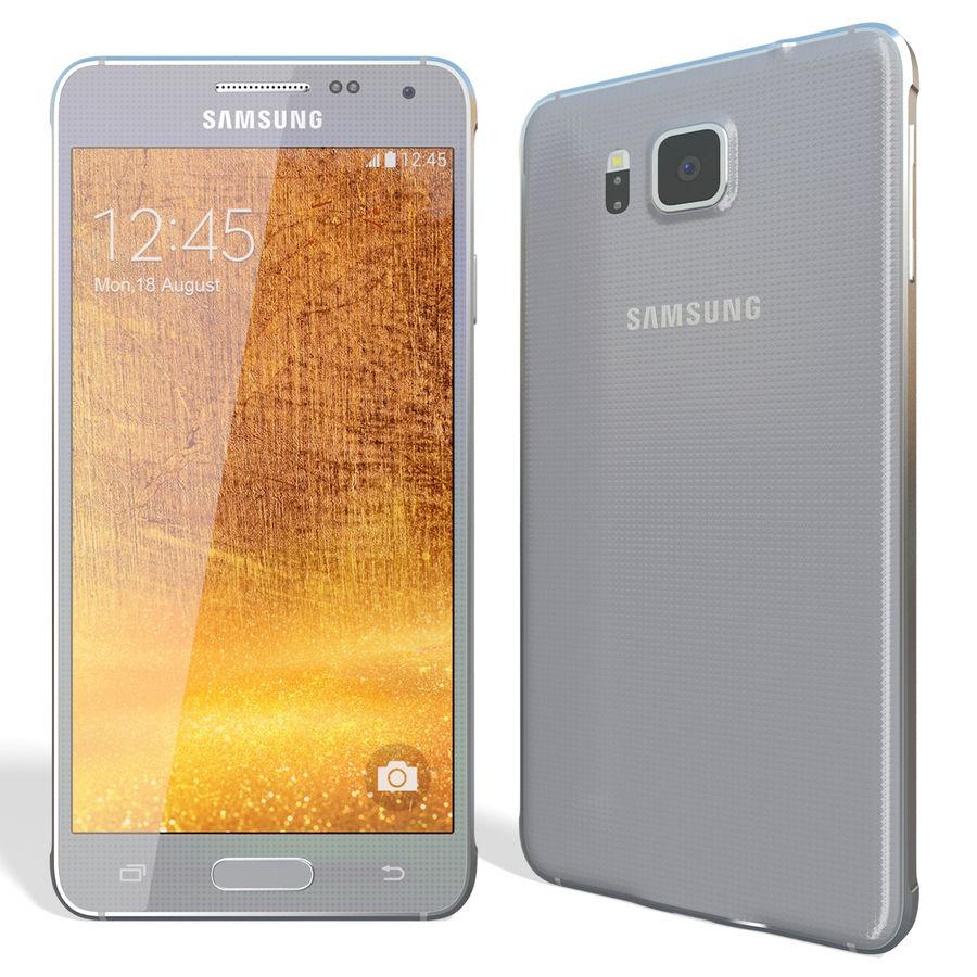 Samsung Galaxy Alpha Silver royalty-free 3d model - Preview no. 4